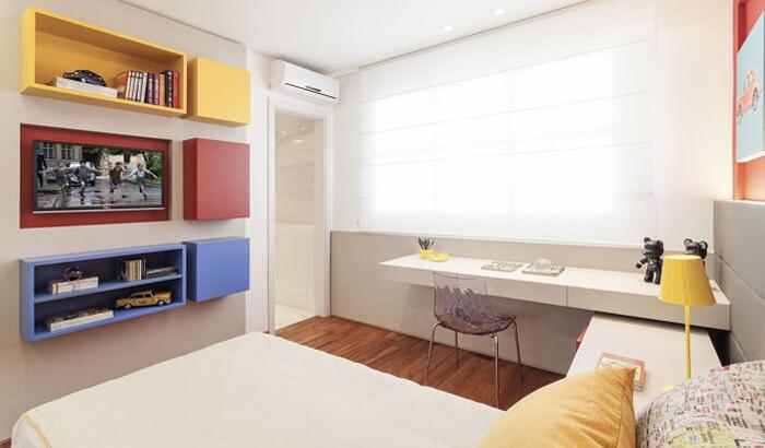 Descubra como deixar o quarto de solteiro mais bonito, funcional e divertido usando nichos